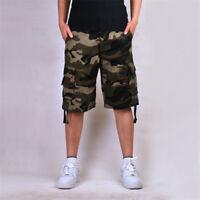 Mens Fishing Combat Camo Shorts Military  Army Camping Casual Work Camo Shorts