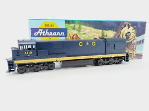 Athearn 3471 Chesapeake Ohio C&O GE U30C Dummy Train Engine Kit HO Vintage NEW