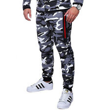 Mens Camo Skinny Bottoms Slim Fit Sport Joggers Tracksuit Pants Gym Sweatpants