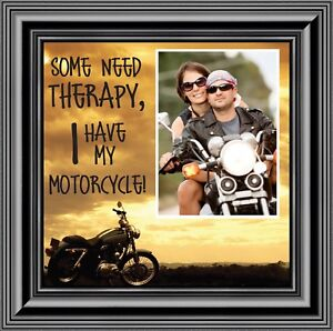 Some Need Therapy, Harley Davidson Motorcycle Picture Frame, 10X10 9769B
