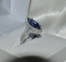 7 CARAT PREMIUM AAA TANZANITE & 76 FLAWLESS DIAMONDS STATEMENT GYPSY 14K GP  S 8