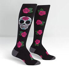 Sock It To Me Women's Knee High Socks - Sugar Skull (UK 3-8)