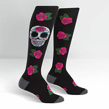 Sock It To Me Women's Knee High Socks - Sugar Skull