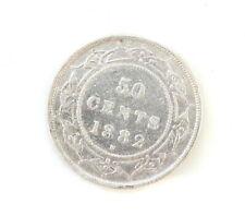 1882-H Victoria 50 Cents NFLD • ICCS Grade F-15