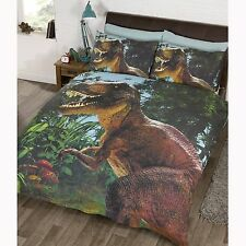 JURASSIC T-REX DINOSAUR DOUBLE DUVET COVER SET EXCLUSIVE PARK
