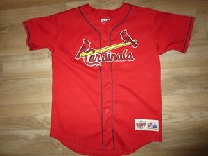 Mark McGwire #25 St. Louis Cardinals MLB majestic Jersey Youth L 14-16 children