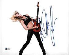 Nita Strauss Signed 8x10 Photo BAS Beckett COA Alice Cooper Guitar Autograph 14