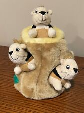 New listing Kyjen Plush Puppies Hide-a-Squirrel Dog Toy. Includes 3 squirrel squeak toys.