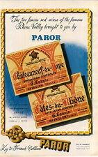 """ADVERT 2 PG """" Mini Poster """" Vineyard Wine  Chateauneuf du Pape Paror Laupie"""