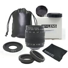 35mm f1.7 CCTV Lens C mount Adapter Kit for Sony NEX7 NEX-F3 a6000 a5000 a3500