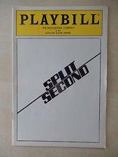January 1986 - Plays And Players Theatre Playbill - Split Second - Matt Carlson