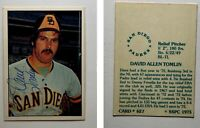 Dave Tomlin Signed 1976 SSPC #627 Card San Diego Padres Auto Autograph