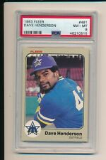 DAVE HENDERSON SEATTLE MARINERS 1983 FLEER #508 PSA 8 MINT GRADED BASEBALL CARD