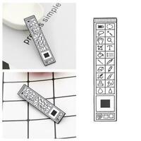 Photoshop Emaille Pin Brosche Abzeichen Cartoon-Photoshop Symbolleiste OldS L7K5