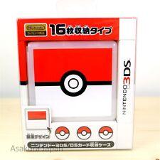 Pokemon Center Card Case 16 for Nintendo 3DS DS Monster Ball Game Cartridge