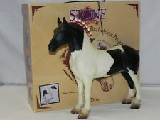 New in Box Peter Stone Horse 9612 Pecos Chief Drafter Black and White Pinto Tag