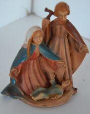 Vintage Plastic Italy Figure Mary Jesus Joseph Nativity