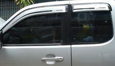 Wind Deflectors Visors/Rain Guards Tinted-Silver Wide Ford Ranger 06-12 4D 4pcs