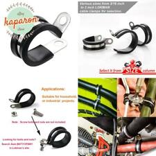 Antrader Cable Clamp 1//4 Inch Stainless Steel 304 Rubber Cushioned Pipe Clamp Pack of 12