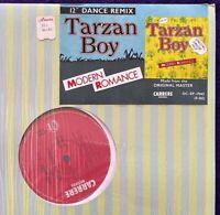 "MODERN ROMANCE Tarzan Boy / Sail Away 12"" CARRERE France 45RPM SHRINK Rare VG++"