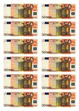 12  Euros Money Cupcake Fairy Cake Toppers Edible Rice Paper Decorations