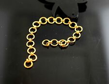 22k Solid Gold 916 CHAIN LINKS LOCK FINDINGS CLASP or Custom length Bracelet