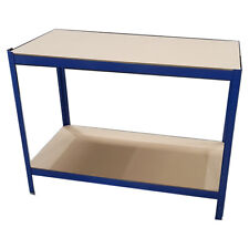 Heavy Duty Blue Metal Work Bench Garage Workshop Table Top Workbench Station DIY