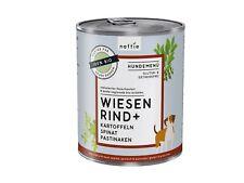 naftie Bio Wiesen Rind+ Hundefutter Nassfutter Menü, 6x800g