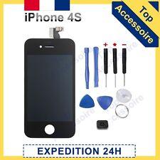 ECRAN IPHONE 4S NOIR VITRE TACTILE + LCD ORIGINE RETINA SUR CHASSIS + NOTICE