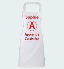 Tablier de Cuisine Apprentie Cuisinière et prénom personnalisé Humour débutante