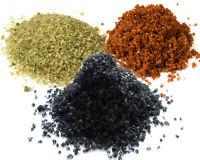 Hawaiian Black Lava Salt Alaea Red Salt, Bamboo Jade Salt - Fine Grain Sea Salt