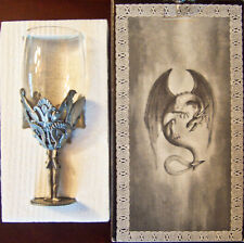 """Rare Veronese Myths & Legends """"Egyptian Motif"""" Pewter Wine Goblet - New In Box!"""