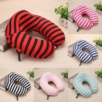 U Shaped Car Air Travel Neck Pillow Slow Rising Memory Foam Cushion Headrest Lot