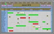 Urlaubsplaner Software keine Folgekosten alle Jahre Resturlaub Überstundenkonto