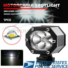 "48W 4800LM 3.5"" CREE LED Motorcycles Headlight Spot Light Hi/Lo Beam 6000-7000K"