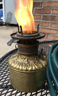 VINTAGE BRASS 1800s FOSTORIA OIL LAMP Burner W/ FLAME SPREADER