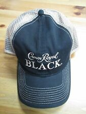 Crown Royal Black Whiskey Mesh Trucker Adjustable Hat! Rare! Brand New!