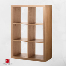 Vinyl Record Storage Bin 6 Crate Album Rack Stand Cube Shelf Wood Look Furniture