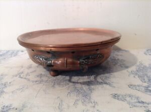 Vintage French Copper Plate Warmer (3605)