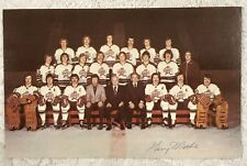 1973-74 HERSHEY BEARS TEAM PHOTO Postcard. Autograph Gerry Methe FREE SHIPPING