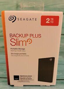 🔥Seagate Backup Plus Slim 2TB USB External Hard Drive - Brand New🔥