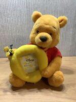Disney Store Winnie The Pooh Plush Soft Toy Teddy 9 Inch Photo Frame