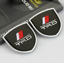 2pcs Quality Car Auto body  Emblems Sticker Decal Badge fit for Shield Black TRD