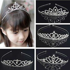 NEW Rhinestone Tiara Hair Band Kid Girl Bridal Princess Prom Crown Headband CHIC