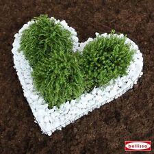 Herzgitter inkl. Marmorkies Grabschmuck Allerheiligen Grabgestaltung Herz