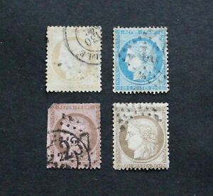 FRANCE - VERY SCARCE EARLY CERES P/SET TO 30c VFU LOT RR
