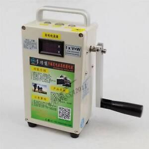 1PCS Car Emergency start phone Charger portable Hand Crank Generator 220V New
