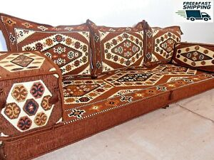 arabic seating,arabic cushion,oriental seating,brown sofa,floor seating - MA 30