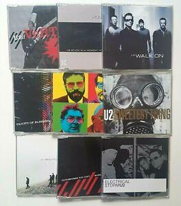 U2 : UNIQUE LOT of 9 x PROMO MAXI-CD !