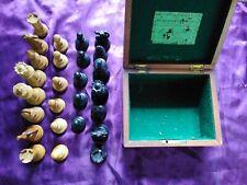 C. 1860s J. Jaques & Son Staunton Chess Set Original Box & 26 Pieces 9.5cm King